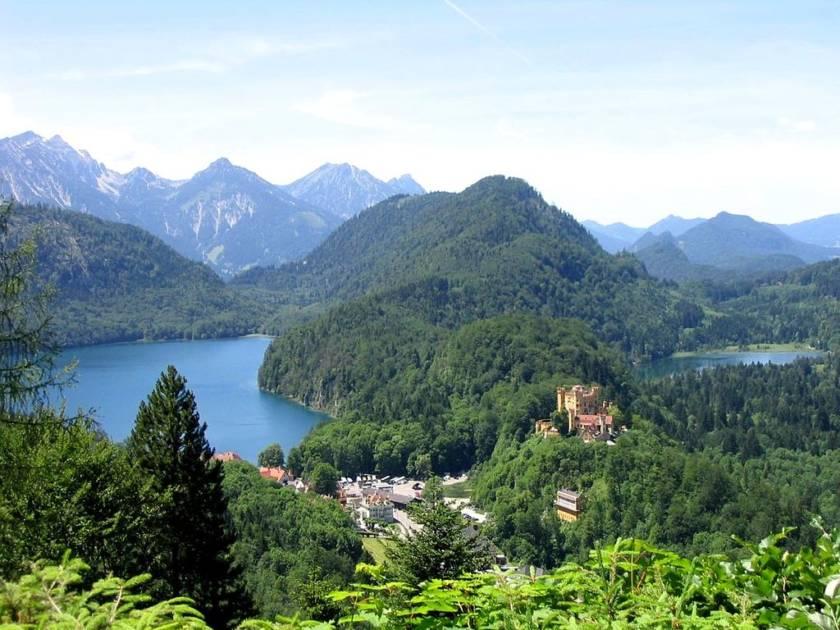 Bayerische Berge in Hohenschwangau