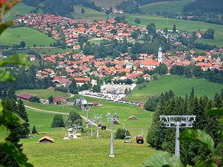 Blick aus der Alpspitzbahn auf Nesselwang